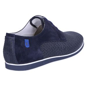 18402/04 Veterschoen blue printed suede