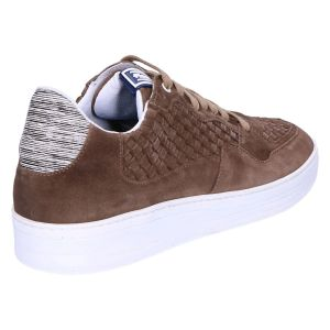 16265/01 Sneaker taupe suede plait