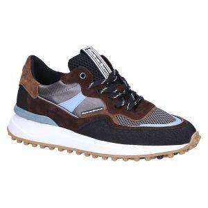 16308/10 Sneaker brown blue combi