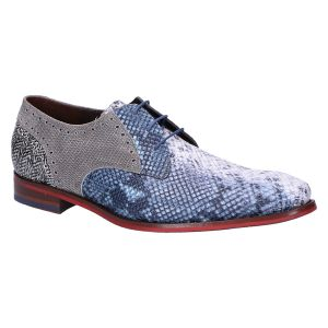 18107/34 Veterschoen blue snake printed