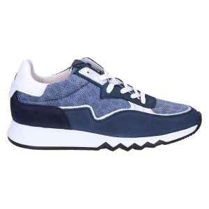 85334 Floris Sneaker blauw nubuk combi