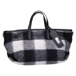 BS 8601 Atena Shopper zwart/wit ruit 43x20x12 cm