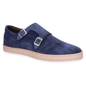 HE76003 Gespschoen indaco blue suede