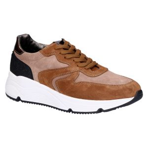 D1918 Sneaker mid bruin kombi