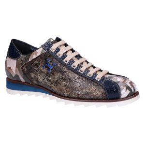 2817 Sneaker grey blue kubric multicolor