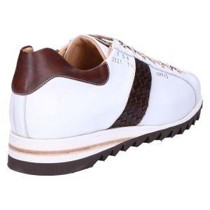 FDM Sneaker matrix white intreccio testa di moro