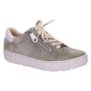 141762 Sneaker khaki/taupe suede