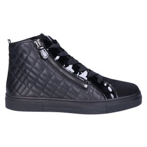 2-301260 Bilbao Sneakerboot zwart matelasse
