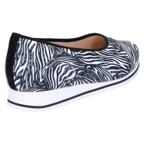 9-301516 Pisa Ballerina schwarz zebra stretch