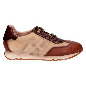 HI211681 Sneaker beige cognac suede/leer
