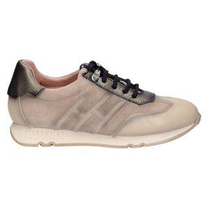 HI211681 Sneaker taupe combi suede/leer