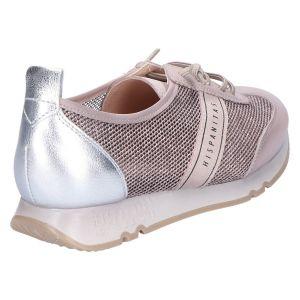 211244 Sneaker nougat/silver leer/canvas