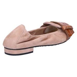 31-10620 Ballerina caramello suede kroko