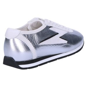 31-26200 Sneaker zilver/wit leer