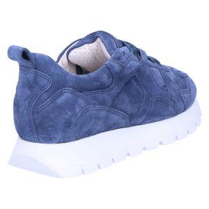 31-28230 Sneaker denim/blauw suede