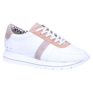 31-28290 Sneaker wit/taupe leopard
