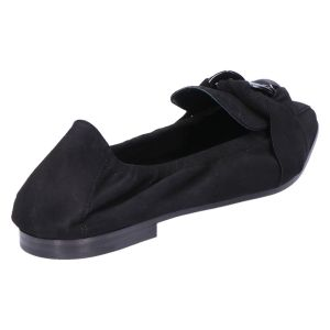 41-12080 Ballerina zwart suede
