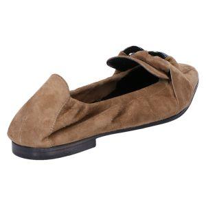 41-12080 Ballerina wood/camel suede