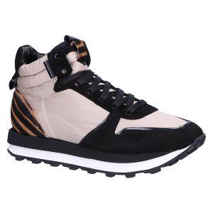 41-19200 Sneakerboot taupe/zwart nylon/zebra