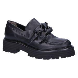 61-34640 Loafer zwart leer accessoire