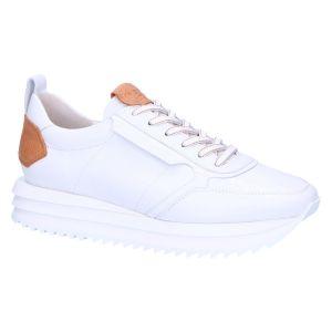 51-19410 Sneaker bianco/caramel calfs
