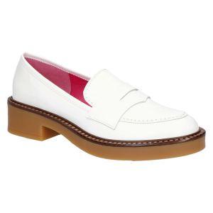 700W1 Loafer bianco/miele brush