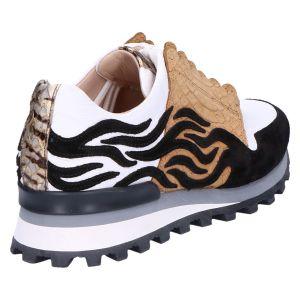 60007 Sneaker zebra zwart/wit/ebano
