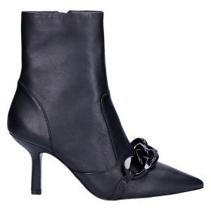 Scarlett Ankle Boot zwart leer 8 cm