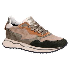 Margo Sneaker groen/taupe/cognac