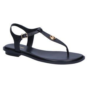 Mallory Thong Sandaal zwart leer