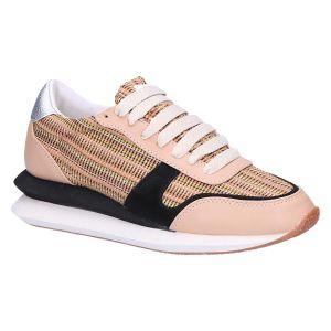 8675 Sneaker beige multi vlecht