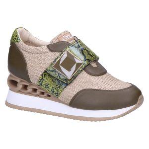 8683 Sneaker klitteband kaki/beige