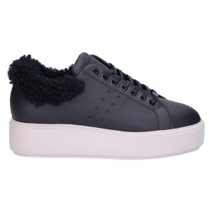 21046101 Elise Marlow fur black leather