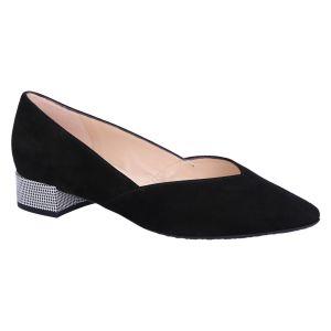 21503 Shade Ballerina zwart suede pepita hak 2.5 c