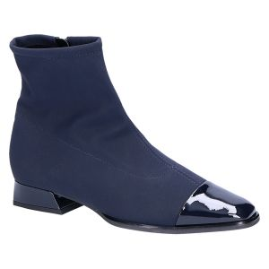 95685 Leanna Plus Enkellaars blauw stretch lak 2.5