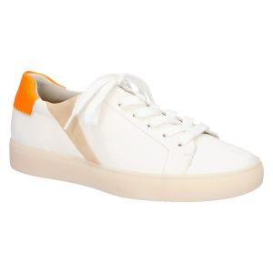 4959 Sneaker off white/dakarbeige fluo oranje