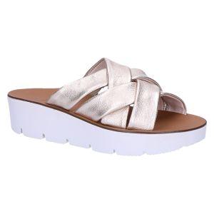 7641 Slipper kruisband brons metallic