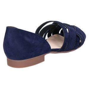 3773 Kruisband open teen saphir/blauw nubuk