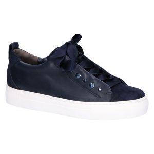 4645 Sneaker ocean blauw leer