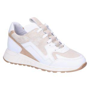 2507 Sneaker white/camel leer/suede