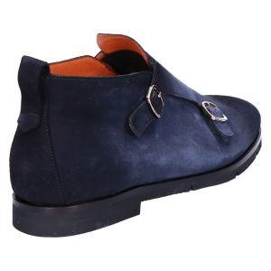 16737 Gespboot blue royal cashmere suede