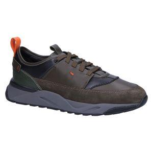 21204 Sneaker ares green suedecombi