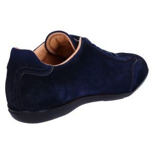 21334 Sneaker blue suede perfo