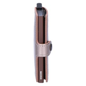 Miniwallet Metallic champagne brown