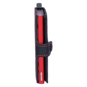 Miniwallet matte black& red