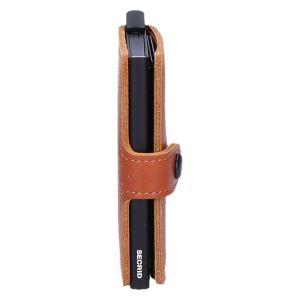 Miniwallet perforated cognac