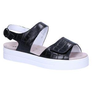 A1015 Anna Sandaal zwart kroko