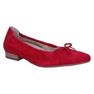 F9210 Fabia Ballerina rood suede