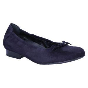 F9210 Fabia Ballerina blauw suede