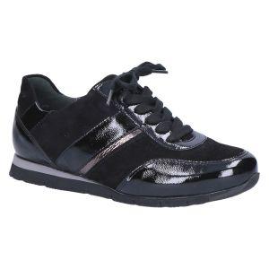 R5303 Rosa Sneaker zwart grijs lak suede
